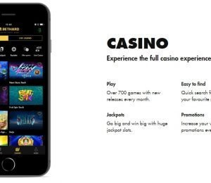 Bethard live casino screenshot
