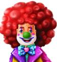 Booming Circus Clown Symbol