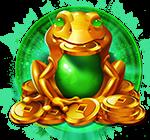 Dragon Chase jade frog symbol