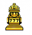 Jackpot Quest Golden Slot Machine Symbol