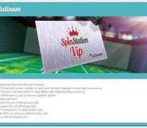 SpinStation VIP Platinum screenshot