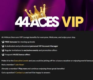 44Aces VIP Lounge Screenshot