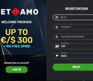 Betamo registration screenshot