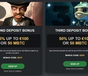 Golden Star second and third deposit bonus screenshot