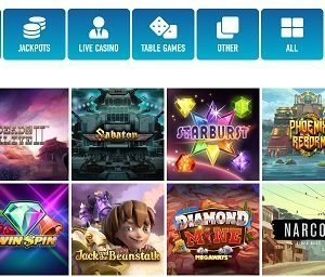 Slotnite Games Page Screenshot
