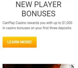 CanPlay Casino promotions page