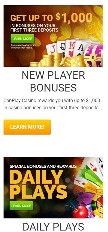 Canplay Casino Up To C 1 000 Welcome 10 Free Spins Pre Sign Up