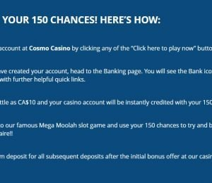 Cosmo Casino sign up instructions