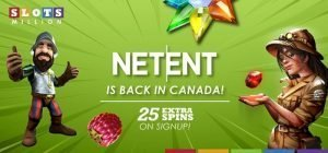 NetEnt back in Canada Slots Million Promo