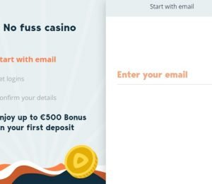 Simple Casino sign up page