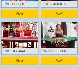 Campeonbet live casino page