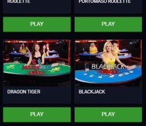 EvoBet live games screenshot