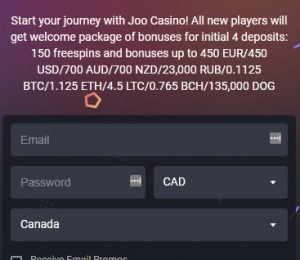 Joo Casino Welcome Bonus