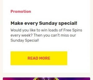 JustSpin Promotions