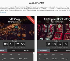 Oshi Casino Tournaments