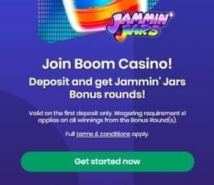 Boom Casino Welcome Screen