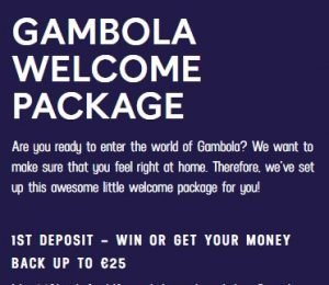 Gambola Casino promotions