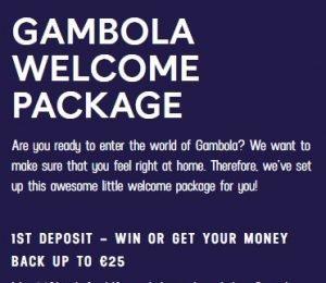 Gambola Casino promotions