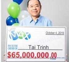 Tai Trinh Lotto Max Jackpot Winner