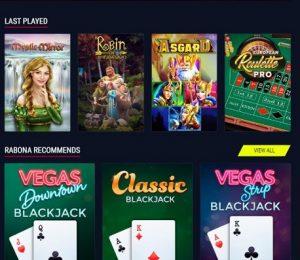 Rabona Casino games
