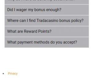 Trada Casino FAQs