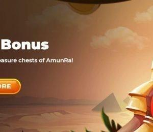 AmunRa Casino birthday bonus banner