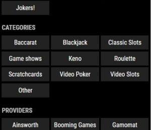 VIPs casino games