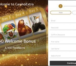 Casino Extra Sign Up Page