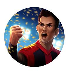 Super Striker cheering player