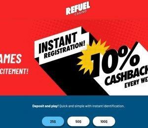 refuel casino welcome bonus