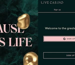 Live Casino sign up-min