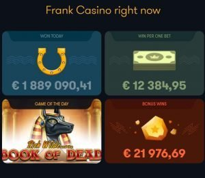 frank casino right now