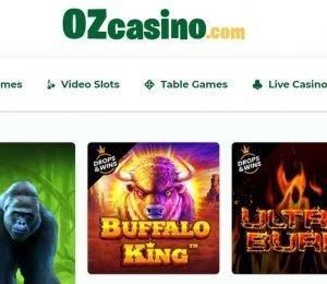 Oz Casino featured games
