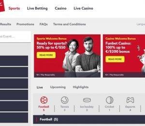 funbet homepage screenshot-min