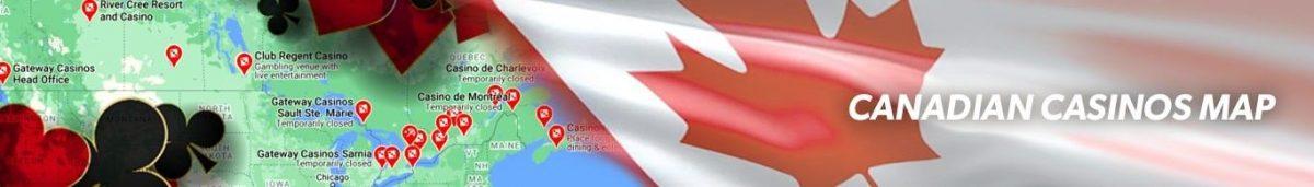 Canadian Casinos Map