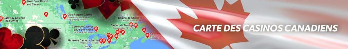 Carte des Casinos Canadiens