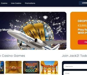 jack21 casino homepage-min