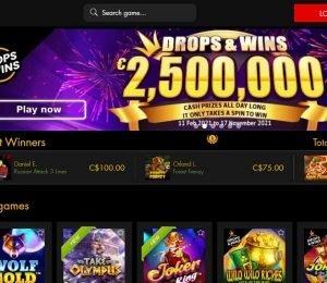 winnerama casino homepage-min