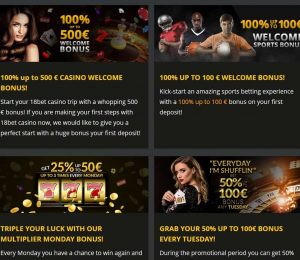 18bet casino promotions