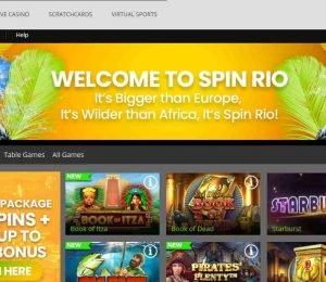 spinrio casino homepage-min