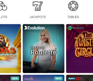 Conquestador Casino Games Library